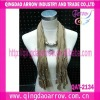Promotional necklace scarf fashion scarf with decorations