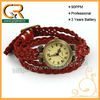 100044 Hot 2013 weaving wrap bracelet braided leather watch