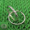 silver stainless steel hoop earrings w/rhinestones