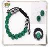 Green Real Shamballa Bracelet Shamballa Jewelry Set Wholesale