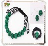 Green Real Shamballa Bracelet Shamballa Jewelry Set Wholesale