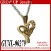Wholesale gold plated heart design fashion stainless steel jewelry