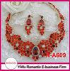 hot sale red crystal necklace set