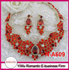 hot sale red crystal necklace set