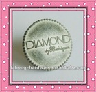 Convex frosted effect with diamon letter button