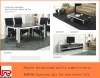 black stainless steel dining table YT-015 with marble top