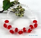 Red crystal bead bracelet