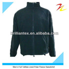 Fashion High Quality Embroidered Full Taffata Lined Polar Fleece Mens Sweatshirt