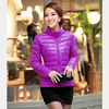 MOQ 1 piece women's latest fashion outdoor ultralight lightweight hiking camping duck down jacket coat 2012