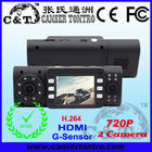 HDV2A 2.0 inch TFT 720P/1080P 2 Camera HDMI G-SENSOR DVR with H.264
