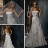 Fancy New Style ElyseDress A-line Strapless White Bridal Dress