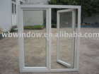 white PVC outward window