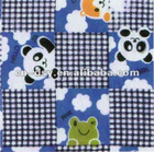 160cm Wide 67 Blue Printed Flannel 100% Cotton Textile Fabric