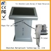 Indoor metal ticketing kiosk with thermal printer