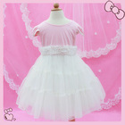 Elegance lac pink flower girls dresses 2012