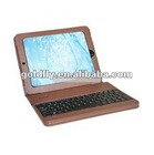 Wireless Bluetooth Keyboard PU Leather Case With Stand Compatible For iPad (bluetooth keyboard leather case for 7 tablet)
