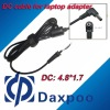 4.8*1.7 laptop power dc cable for Acer, for Asus, for Benq adapter