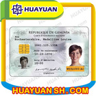 PVC plastic off-set printing photo ID card