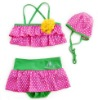 Baby swimsuits girls kids beach suits dot swimwear