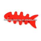 Red fish bone silicone pendant