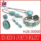 2012 fashion turquoise jewelry set new design