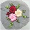 Hand made crochet flowers