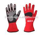 Go Kart Racing Glove, Alcantara Car Racing Glove( Red)