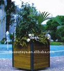 Square Wood Flower Pot