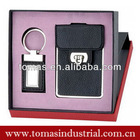 Boxed leather card holder and keychain 2013 siouvenir items