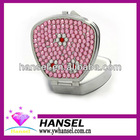 Fanshaped pink with flowers rotating pill box