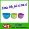 Melamine Mixing Bowl with spout set