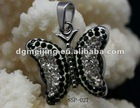 HOT SELLING!! Elegant Shiny Butterfly Necklace Stainless steel Pendants