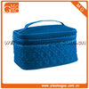quilted double compartment polyester cosmetic box