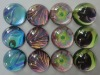 Hot promotional magnetic glass button crystal magnet glass fridge magnet