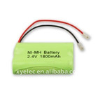 NiMH AA1800mAh 2.4V cordless phone battery packs