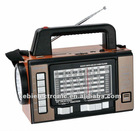 2012 HOT SELL 11 BANDS PORTABLE RECEIVER RADIO WITH TORCH LIGH