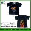heat transfer printed men polyester lycra T-shirt
