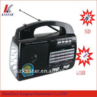 fp-103u rechargeable led torch light radio