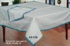 100% polyester spun table cloth