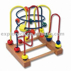 Wooden beaded and wired kids toy