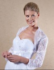 Sheer Lace Embroidered Long Sleeve Wedding Jacket