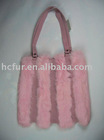 Rabbit fur bag-ladies handbag