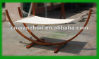 Hammock with wooden frame Veneer Cotton Rope (100%)