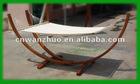 Hammock with wooden frame Veneer Cotton Rope (100%)