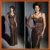 Graceful Sweetheart Brown Taffeta Ruffl Sheath Lace Mother Of The Bride Evening Dresses