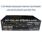 5.25 media dashboard pci-e usb 2.0 internal card reader with sata esata and ide port