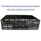 5.25 media dashboard pci-e usb 2.0 internal card reader with sata esata and ide port