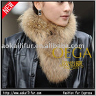 Raccoon dog fur sacrf in hot selling. Raccoon dog fur neck warmer in wholesale price.
