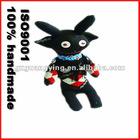 black handmade Socks dolls