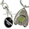 trolley coin key chain/ keyring